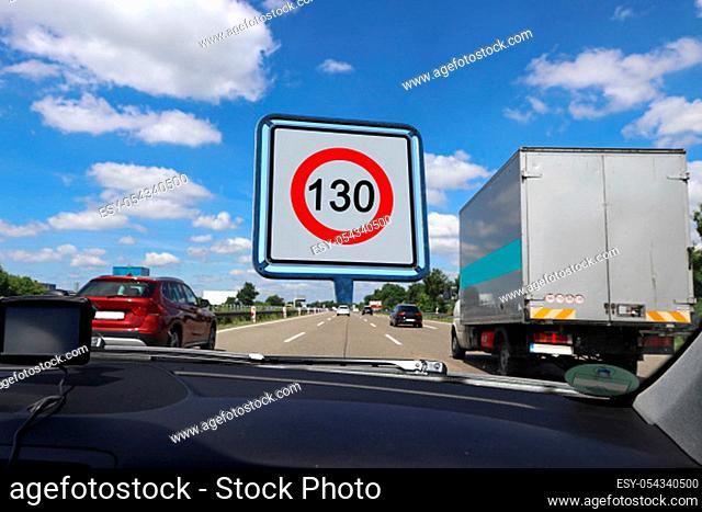 Speed limit on German motorways to 130