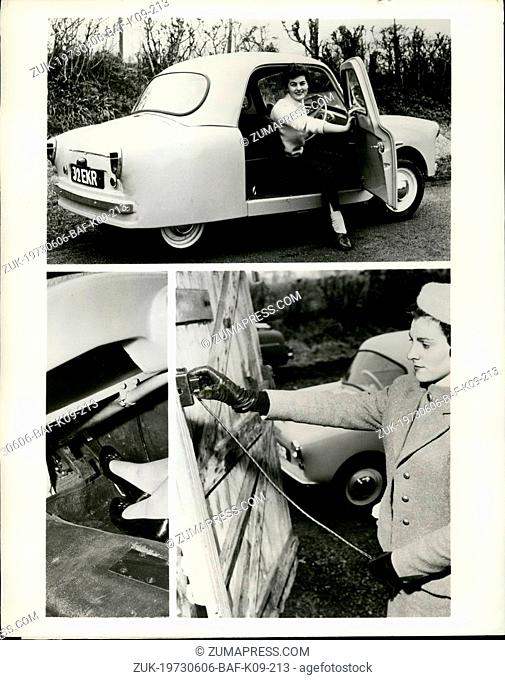 Jun. 06, 1973 - Eleectric Car costs a third of a cent a mile to run; An all electronic car has been developed in England
