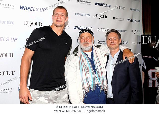 DuJOur Magazine celebrates Rob Gronkowski, presented by CASA de CAMPO, Absolut Elyx & Wheels Up held at Lavo Featuring: Rob Gronkowski, Bruce Webber