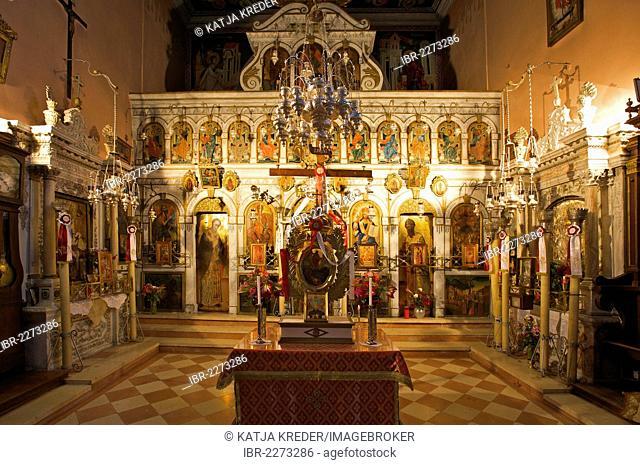 Monastery of Panagia Theotokos tis Paleokastritsas, Paleokastritsa, Corfu, Ionian Islands, Greece, Europe
