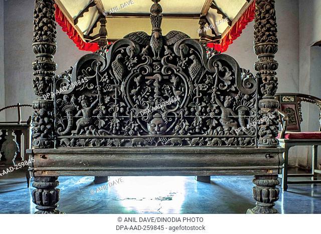 King Cot in Padmanabhapuram Palace complex, Tamil nadu, India, Asia
