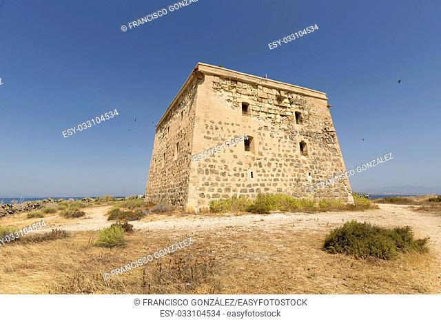 Tower of San José in the Island of Tabarca, province of Alicante, Spain