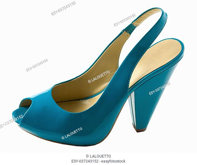 491b3539c95 High heels slingback women shoes Stock Photos and Images