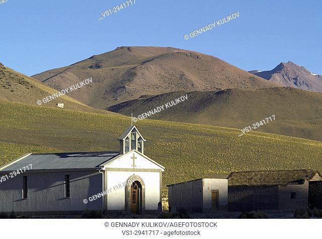 A church in Bolivian highlands. Bolivia, South America