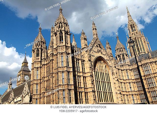 Big Ben and the Houses of Parliament, Westminster, London, England, UK