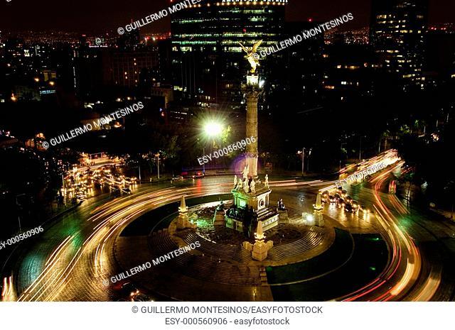 Angel de la Independencia tomado desde el Hotel Sheraton Maria Isabel Av  Reforma Ciudad de Mexico