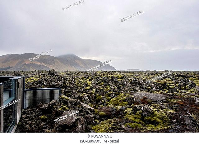 View of mountain from visitors centre, Skaftafell National Park, Iceland
