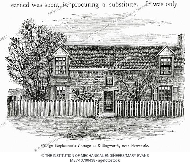 George StephensonÆs cottage at Killingworth, near Newcastle., eng