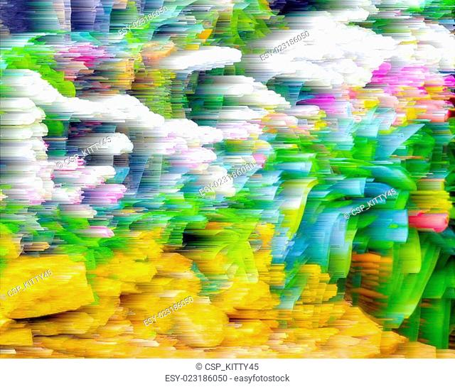 Abstract blur background and soft colorful nature