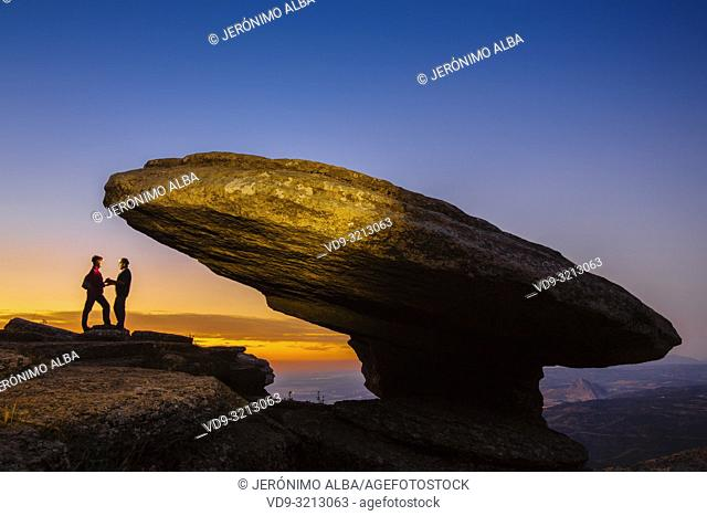 Torcal de Antequera at dusk, Erosion working on Jurassic limestones, Málaga province. Andalusia, Southern Spain Europe