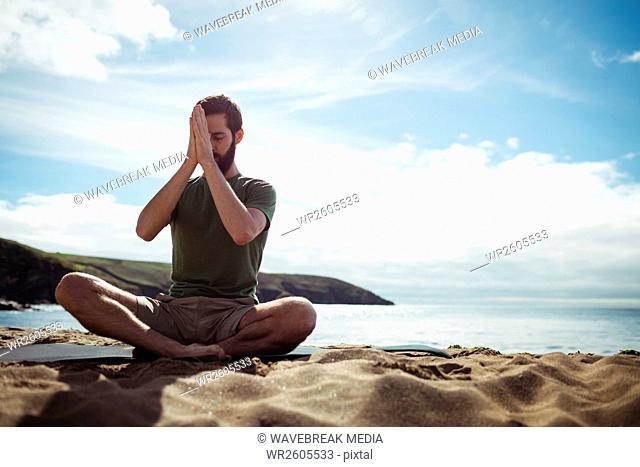 Man performing yoga