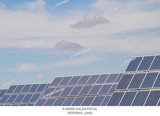 Solar panels. Ciudad Real province, Castilla La Mancha, Spain