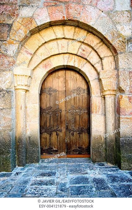 Door of Leire monastery, Navarra, Spain