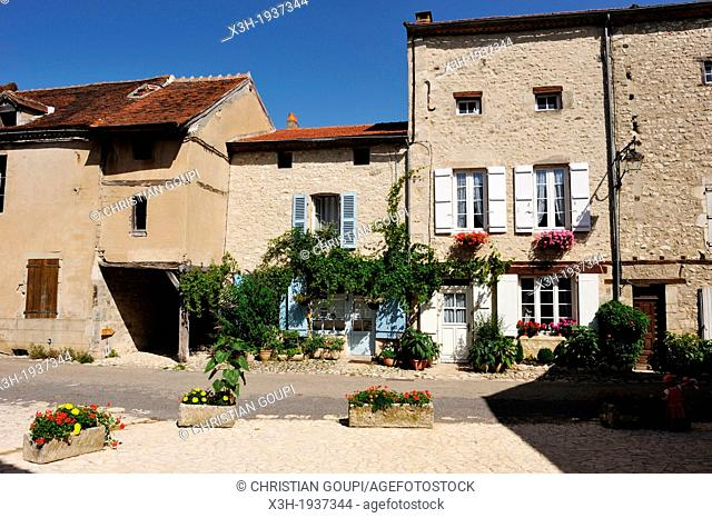 medieval village of Charroux-en Bourbonnais, Allier department, Auvergne region, France, Europe