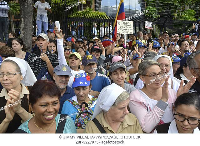 Protests against the government of Maduro made on January 23, 2019