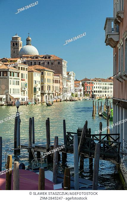 Grand Canal seen from the sestiere of Santa Croce, Venice, Italy