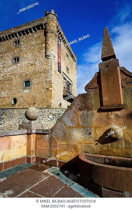 Torre del Infantado or Infantado tower. Potes, Comarca de Liébana, Cantabria, Spain