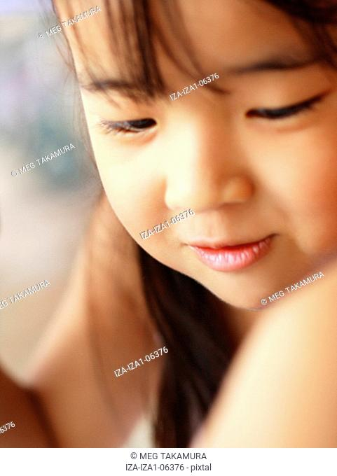 Close-up of a girl