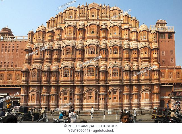 Hawa Mahal or Palace of the Winds, Jaipur, India, built from 1799 to ensure seclusion for women of the court
