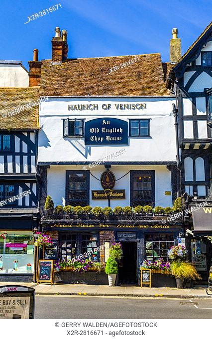 The Haunch of Venison restaurant in the centre of Salisbury, Wiltshire