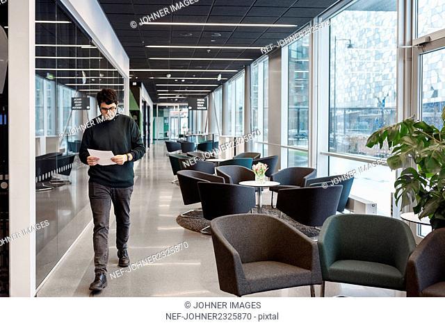 Man walking in office