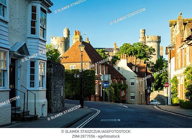 Spring evening in Arundel, West Sussex, England