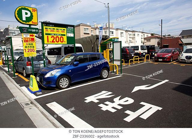 parking lot in Tokyo