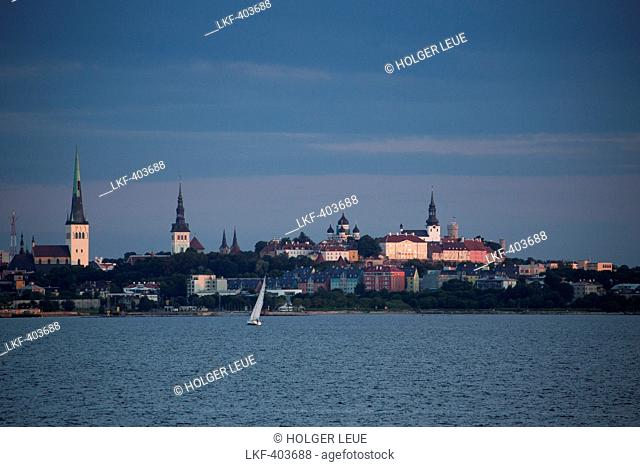 Skyline with churches and Russian Orthodox cathedral of Alexander Nevsky, Tallinn, Harjumaa, Estonia, Baltic States, Europe