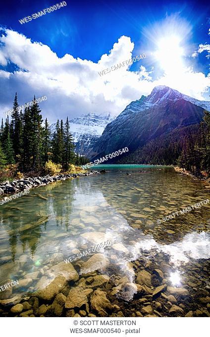 Canada, Alberta, Jasper National Park, Cavell Lake