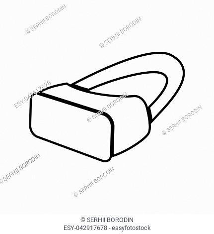VR glasses it is black color icon