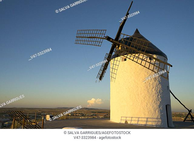 """The mills of Consuegra are a set of mills located in the so-called """"Calderico hill"""", in the Spanish municipality of Consuegra, in the province of Toledo"""