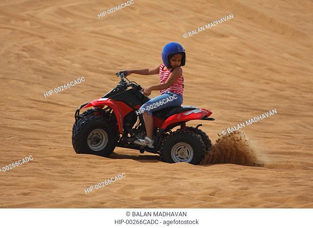 AN ATV AT THE DESERT SAFARI IN DUBAI