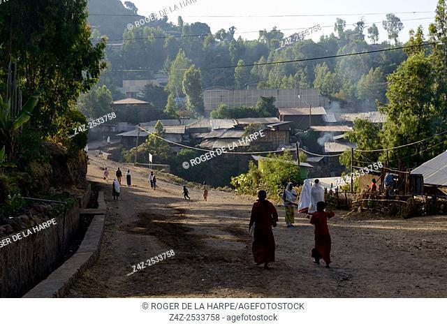 Street scene. Lalibela. Ethiopia
