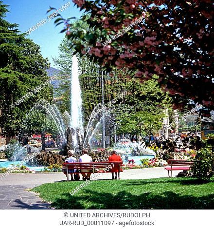 Reise nach Lugano, Schweiz 1980er Jahre. Journey to Lugano, Switzerland 1980s