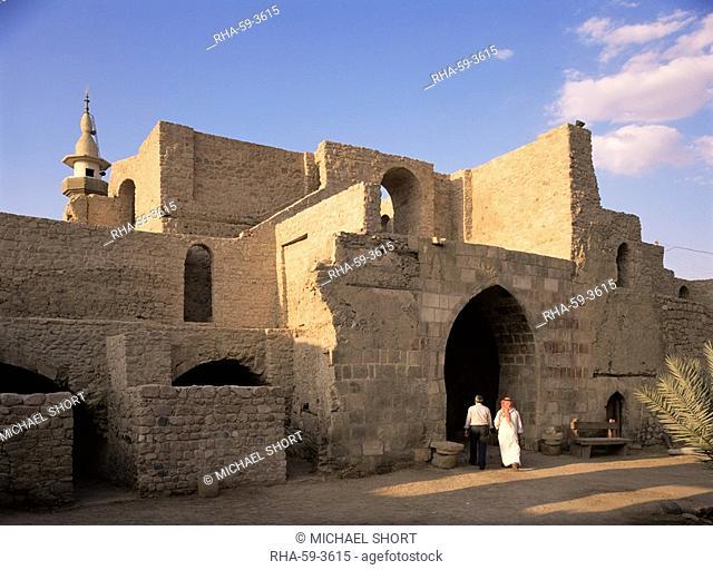 Courtyard of the Mamluke Fort, Aqaba, Jordan, Middle East