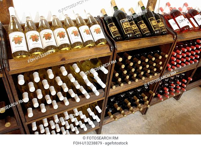 Romulus, NY, New York, Finger Lakes, Swedish Hill Winery, wines, racks