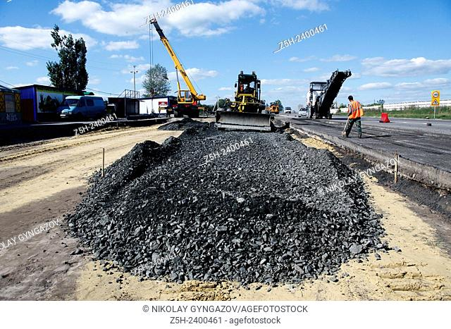 Russia. Belgorod region. Construction and reconstruction of roads in rural areas