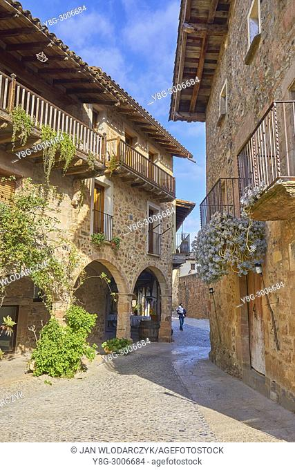 City of Santa Pau, Girona province, Catalonia, Spain