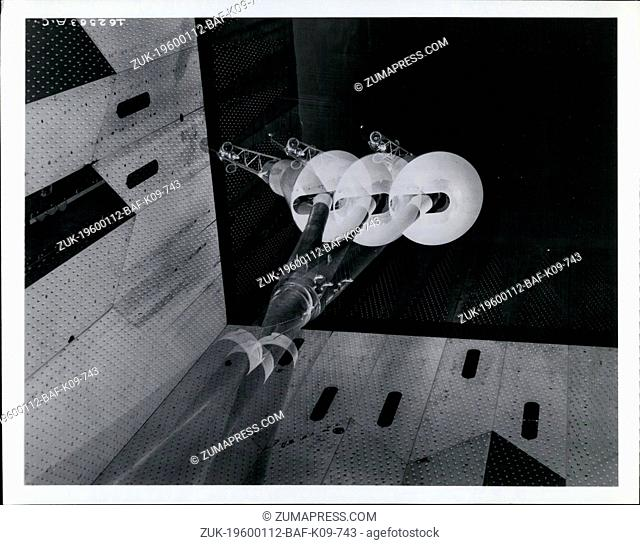 1980 - Post launch flight characteristics - This multiple exposure photograph shows a 32 per cent scale model of the National Aeronautics and Space...