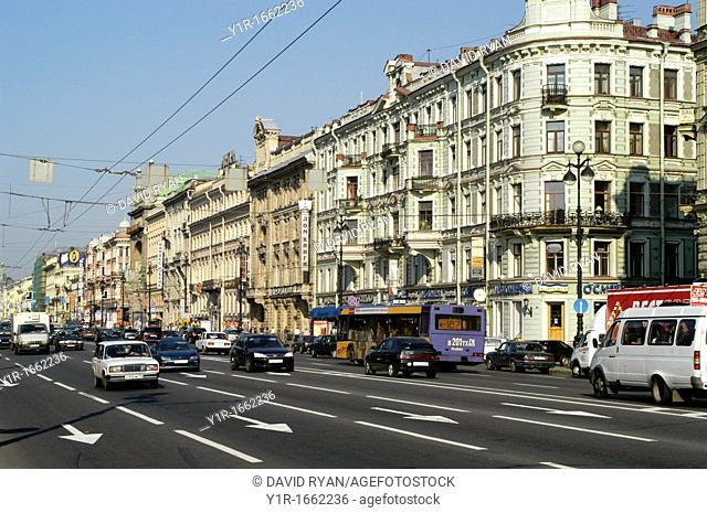 Russia, St  Petersburg, Nevsky Prospect, St  Petersburg's Main Street