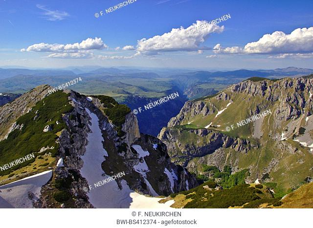 view from Putras to Tara gorge, Durmitor massif, Montenegro, Durmitor National Park