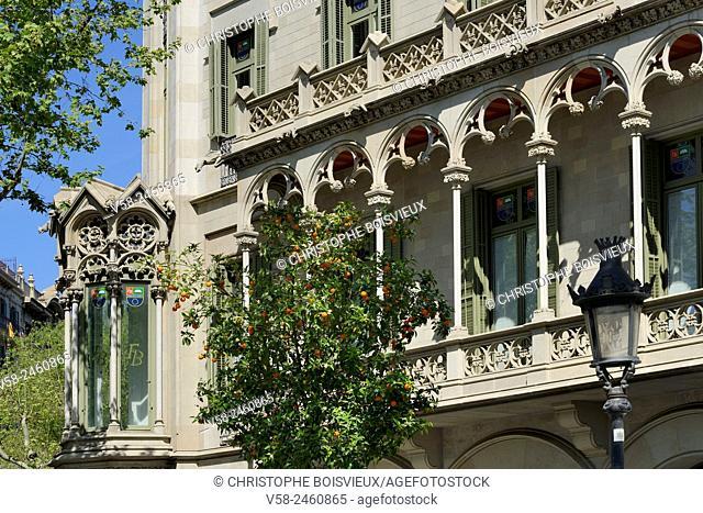 Spain, Catalonia, Barcelona, Passeig de Gracia, Casa Vidua Marfa (1901-1905)