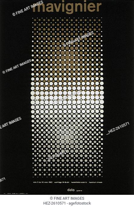 Almir da Silva Mavignier Exhibition poster, 1962. Artist: Mavignier, Almir da Silva (*1925)