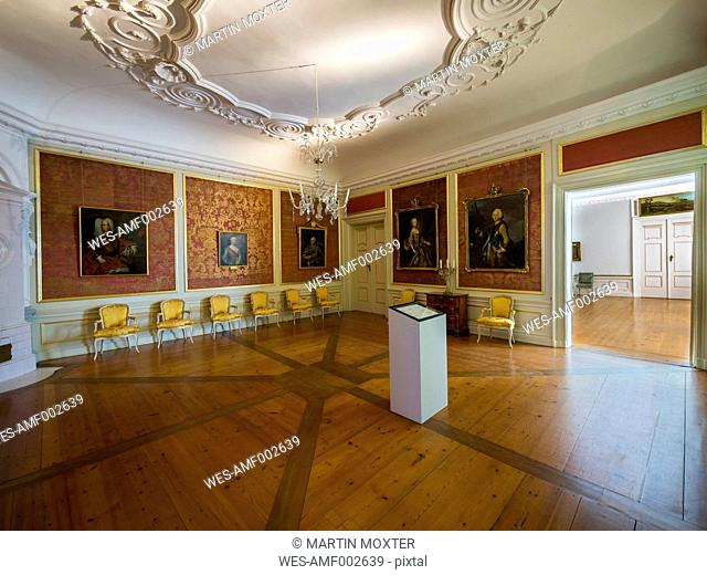Germany, Eutin, Eutin Castle, Showrooms with historic interiors