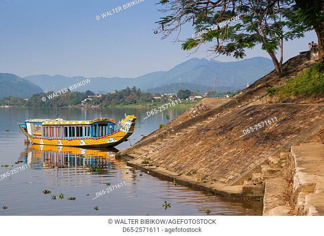 Vietnam, Hue, dragon excursion boats, Perfume River