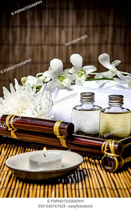 Prepared items of spa treatment