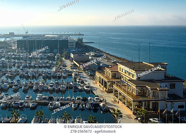 A nautical high vision of the Santa Pola maritime port, Alicante, Spain