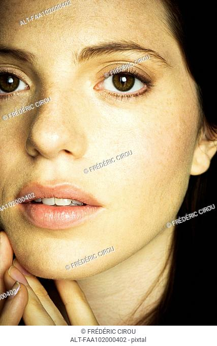 Young woman's face, close-up