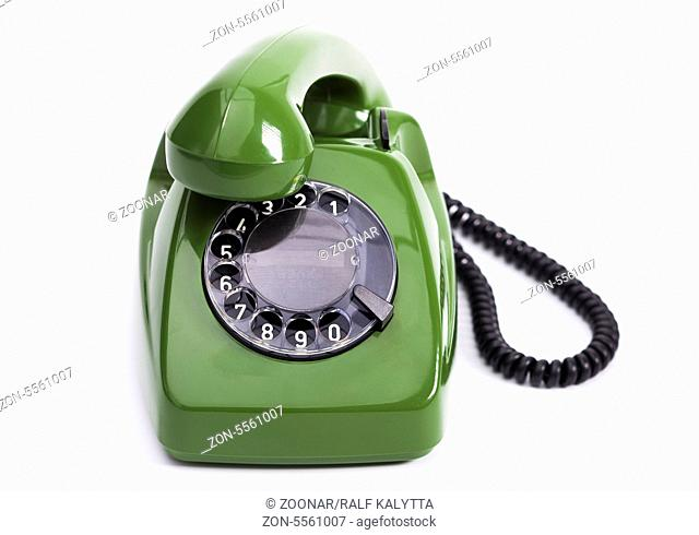 green busy phone