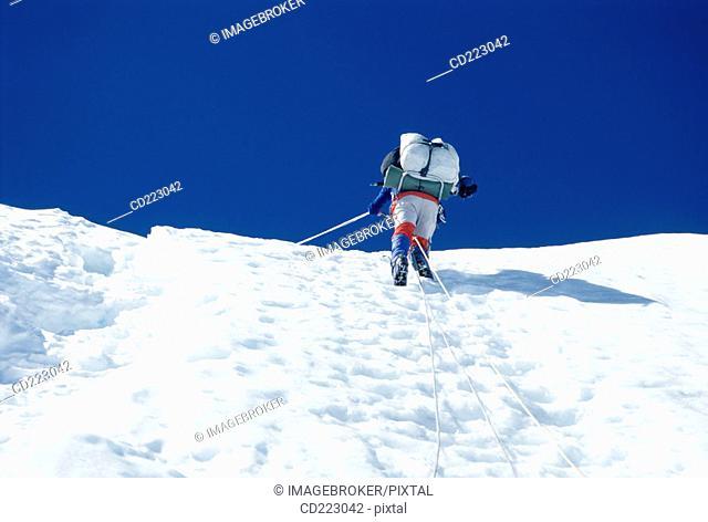 Ascension to Mount Huascaran (6768 m.), Andes, Peru